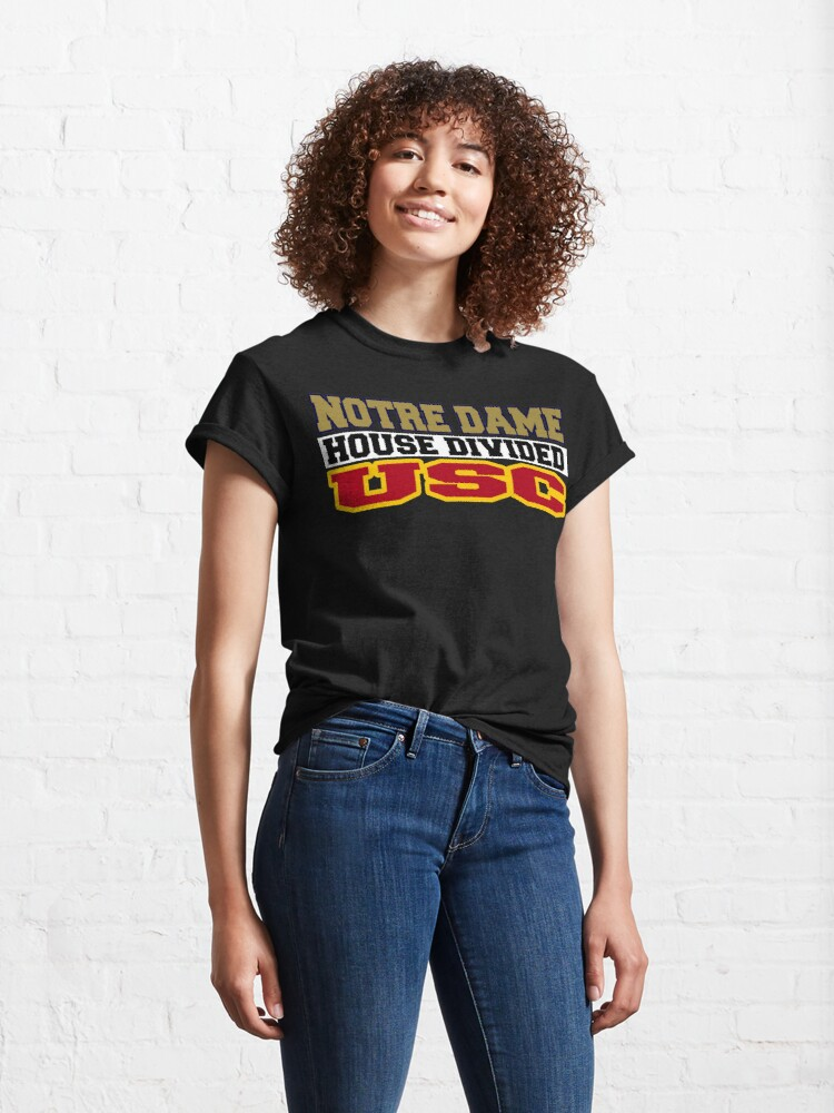 Alternate view of Notre Dame House Divided USC Classic T-Shirt