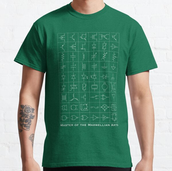 Master of the Maxwellian Arts White on Green Classic T-Shirt