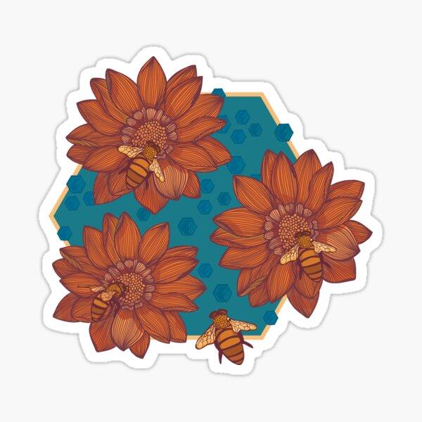 Bee Pattern - Retro Palette Sticker