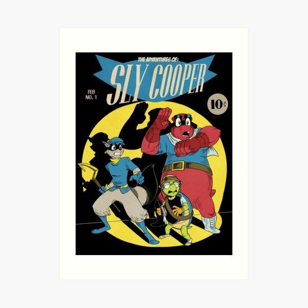 Las aventuras de Sly Cooper Lámina artística