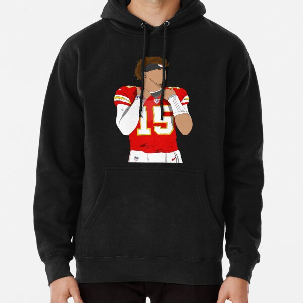 Patrick Mahomes KC chiefs, cartoon faceless Pullover Hoodie