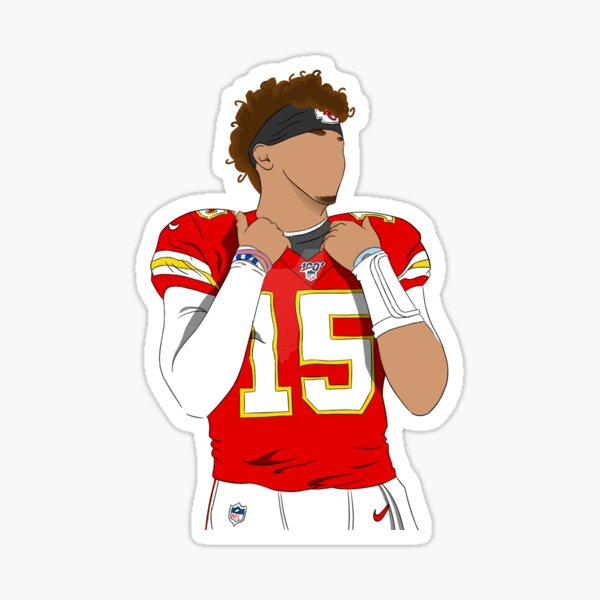 Patrick Mahomes KC chiefs, cartoon faceless Sticker