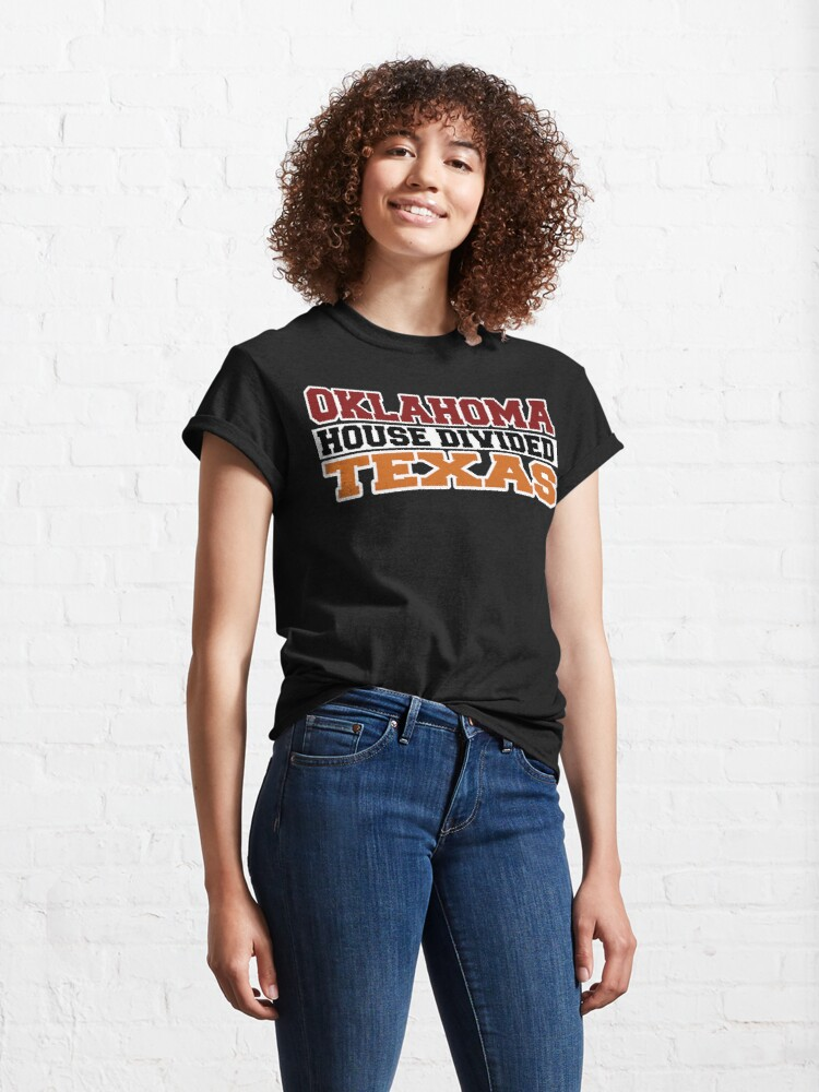Alternate view of Oklahoma House Divided Texas Classic T-Shirt