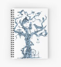 Floral Fairy Tale Tree Spiral Notebook