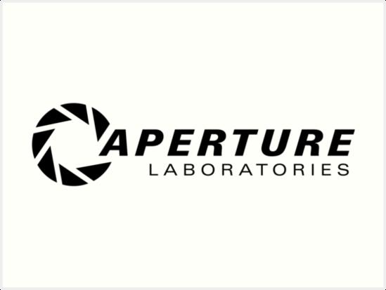 Portal Aperture Wissenschaft Logo Kunstdrucke Von Zaber Redbubble
