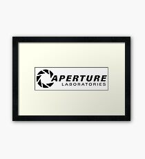 Portal Aperture Science Logo Framed Print
