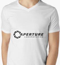 Portal Aperture Science Logo Men's V-Neck T-Shirt