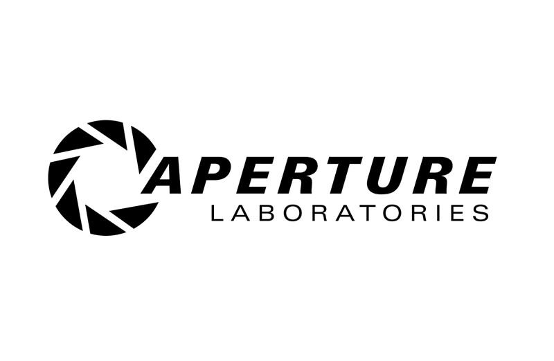 "portal aperture science logo"" laptop skinszaber | redbubble"