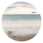 Solace Beach Ocean Sea Sand New England Maine  by Tia Bailey