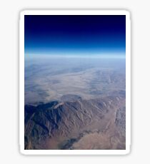 View from an airplane Sticker