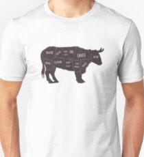 Primitive Butcher Shop Beef Cuts Chart 2 Unisex T-Shirt