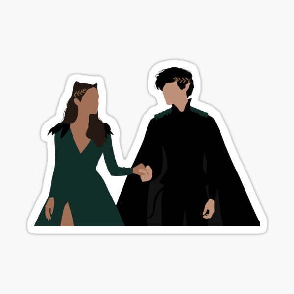 Jude and Cardan from The Cruel Prince. Sticker