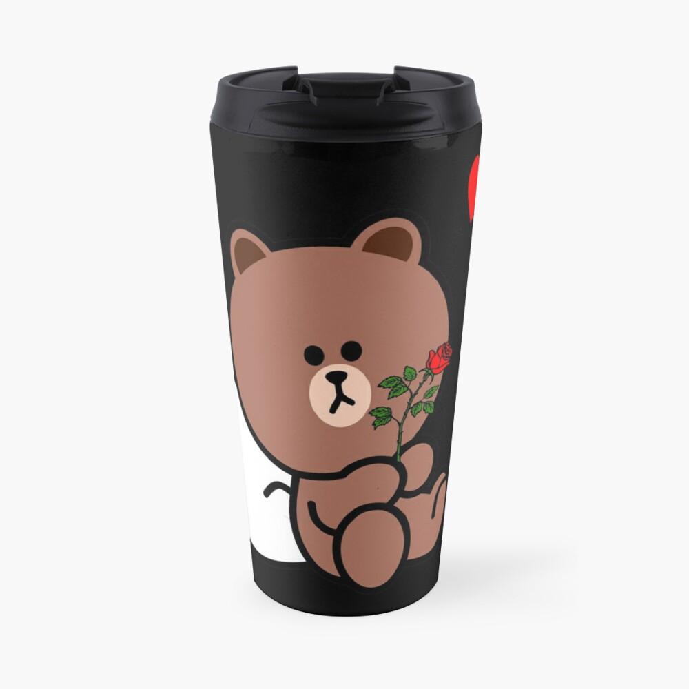 Brown Bear Cony Bunny Rabbit Be My Lover (Him) Travel Mug