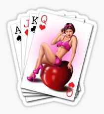 Poker pinup Sticker