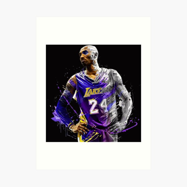 Légende Kobe Bryant NBA RIP Artwork Impression artistique