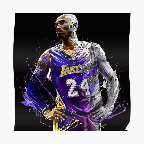Légende Kobe Bryant NBA RIP Artwork Poster
