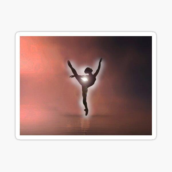 ballet silhouette dancer Sticker