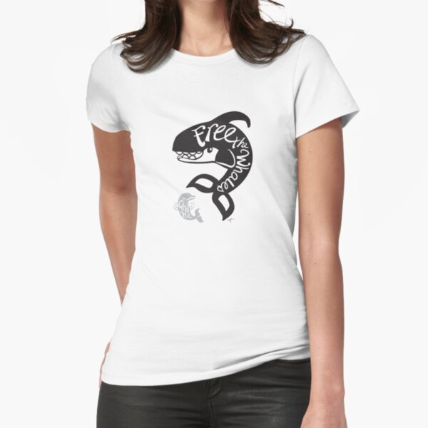 Free the Whales Fitted T-Shirt