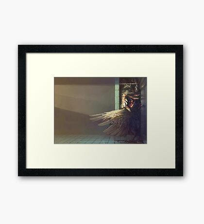 Birdshower Framed Print