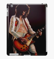 Jimmy Page In Led Zeppelin Painting iPad Case/Skin