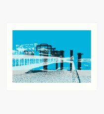 Brightons Two Piers Art Print