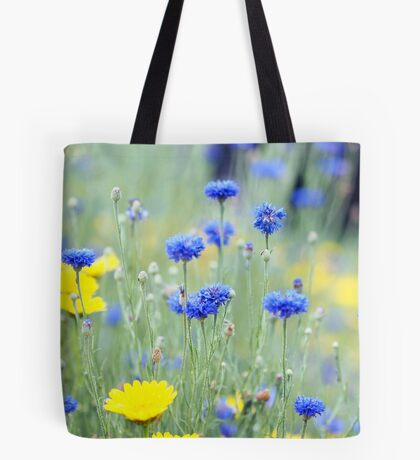 Cornflowers and Daisies Tote Bag