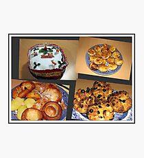 Seasonal Fayre Collage - Food for Christmas Photographic Print