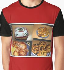 Seasonal Fayre Collage - Food for Christmas Graphic T-Shirt