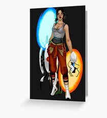 PORTAL 2 Chell Greeting Card