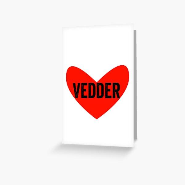 Heart Vedder Greeting Card
