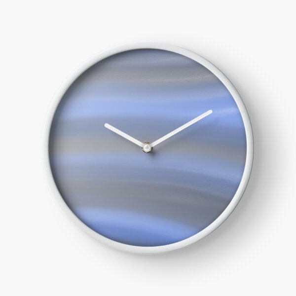 Blue and Grey Pastel Clock