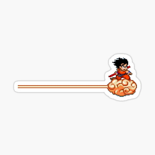 Petit Goku avec Nimbus Cloud 8bit Sticker