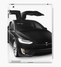 Black 2017 Tesla Model X luxury SUV electric car falcon doors art photo print iPad Case/Skin