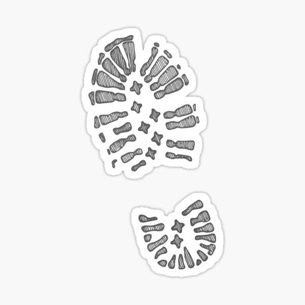 hiking bootprint Sticker