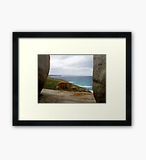 Between Giants  Framed Print