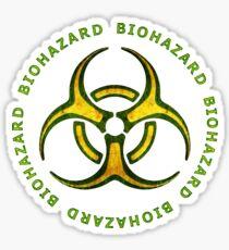 Pegatina Biohazard Zombie Warning