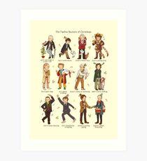 The Twelve Doctors of Christmas Art Print