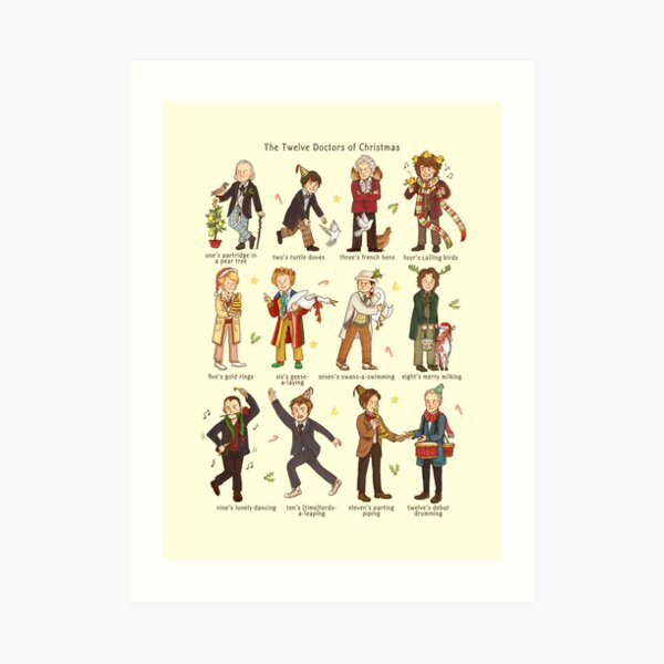 The Twelve Doctors of Christmas Art Print