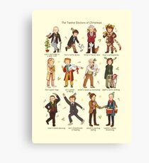 The Twelve Doctors of Christmas Canvas Print