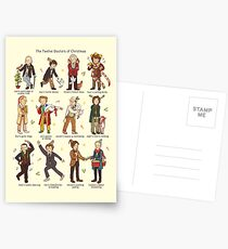 The Twelve Doctors of Christmas Postcards