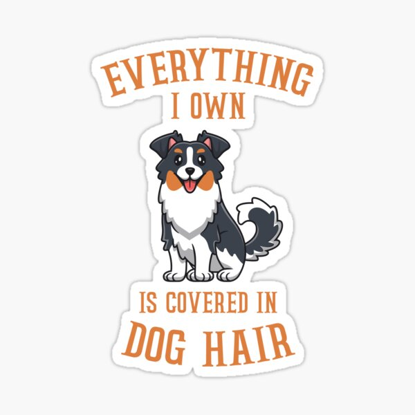Everything I Own Is Covered In Dog Hair image Sticker
