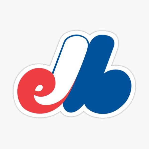 Montreal Expos Minimal Logo Sticker Sticker