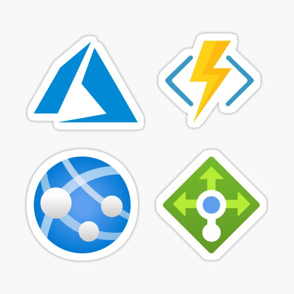 Azure Cloud Guru Stickers Pack: Azure, Azure Function, Web App, Load Balancer Sticker