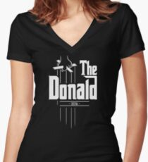 491b5db891 The Donald | Trump Shirt | Funny Political Design Fitted V-Neck T-Shirt