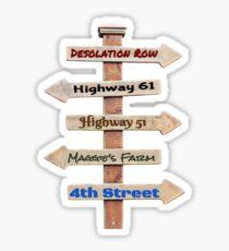 Bob Dylan Roadmap Sticker