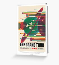 Grand Tour Space Travel Poster Greeting Card
