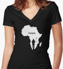 COMPTON/AFRICA Women's Fitted V-Neck T-Shirt