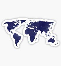 midnight blue world map Sticker