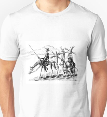 Don Quixote and Sancho Panza ink drawing T-Shirt