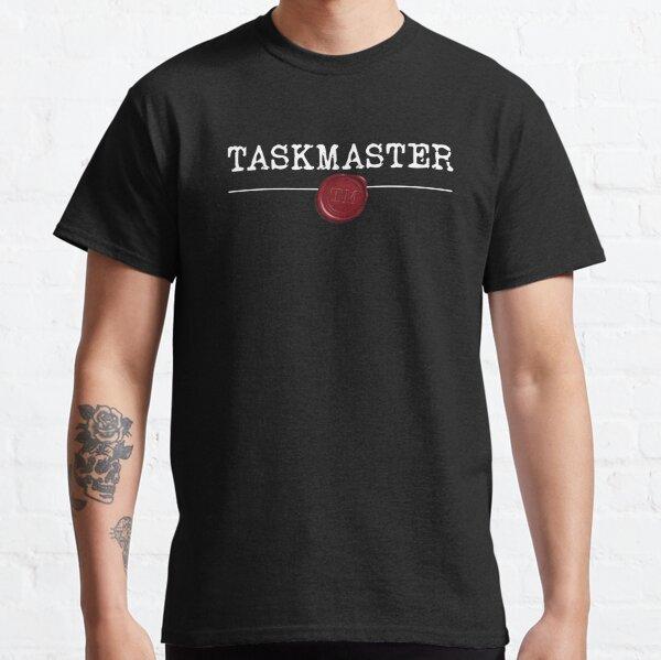Fuente de máquina de escribir Taskmaster con sello de cera Camiseta clásica